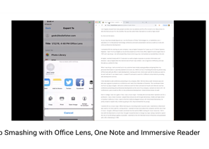 App Smashing with Office Lens, One Note and Immersive Reader
