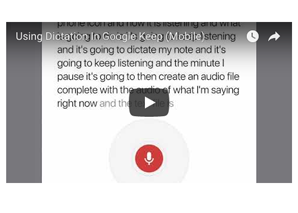 Voice Dictation in Google Keep